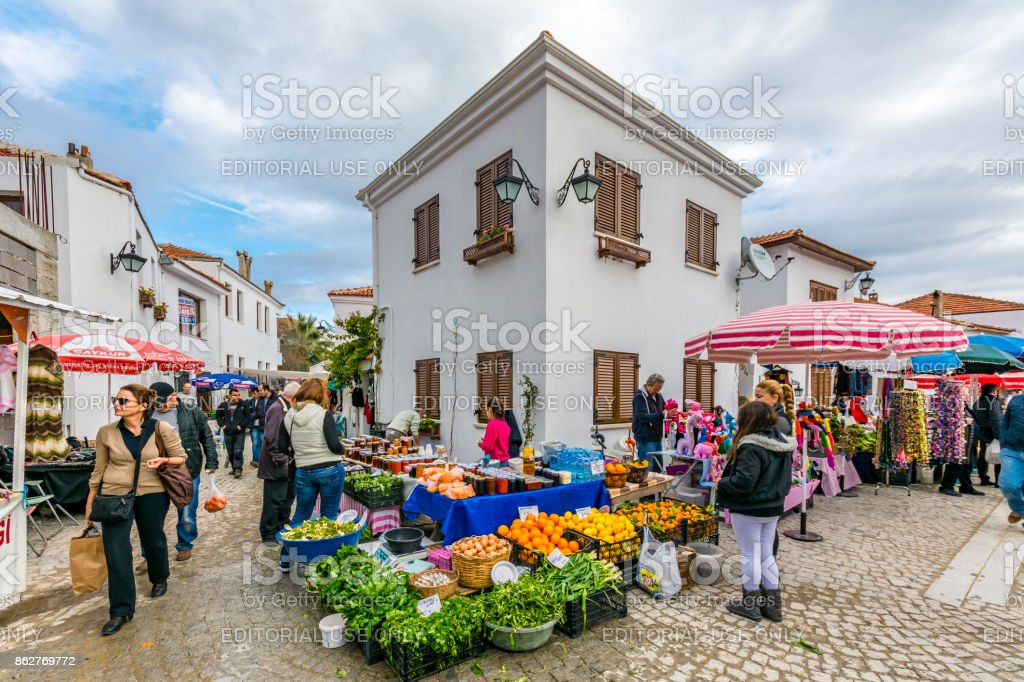 Sigacik Village Open Market In Izmir Stock Photo Download Image Now Istock