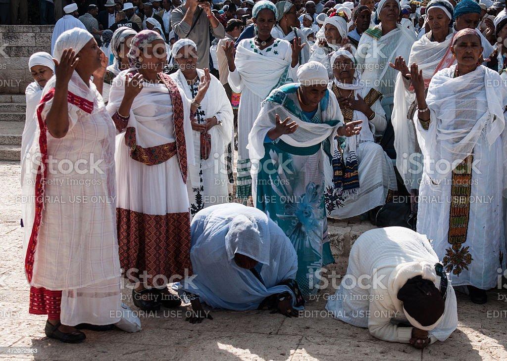 Sigd - An Ethiopian Jews Holiday stock photo