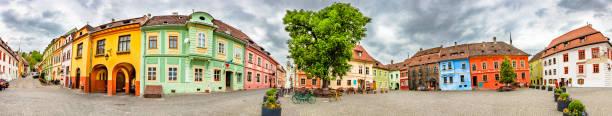Sighisoara Citadel Square, Romania stock photo