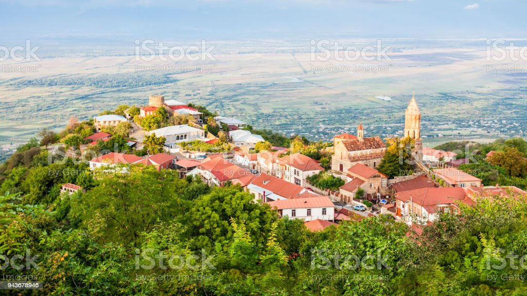Sighnaghi city centre stock photo