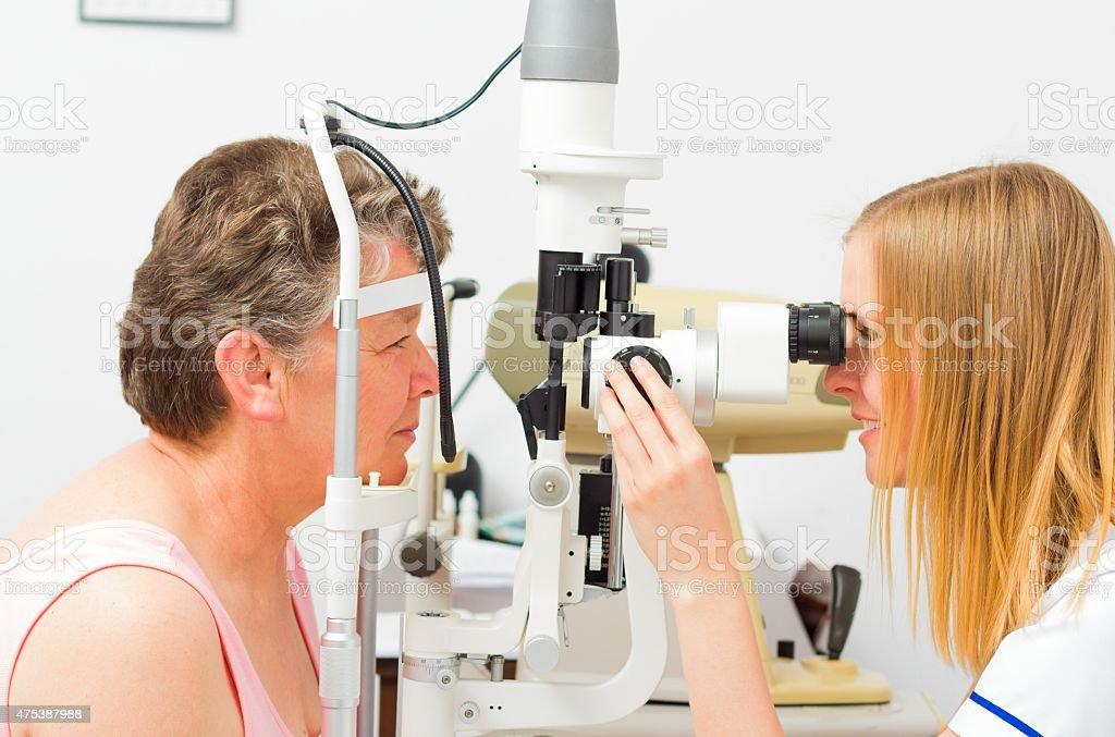 Sight Untersuchung der Optiker's – Foto