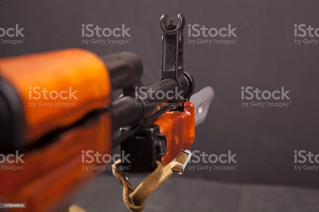 Sight rifle with a bayonet stock photo