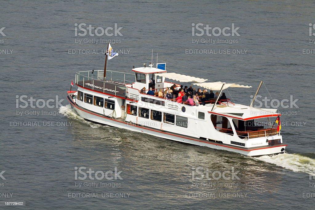 Sight seeing boat on Rhine stock photo
