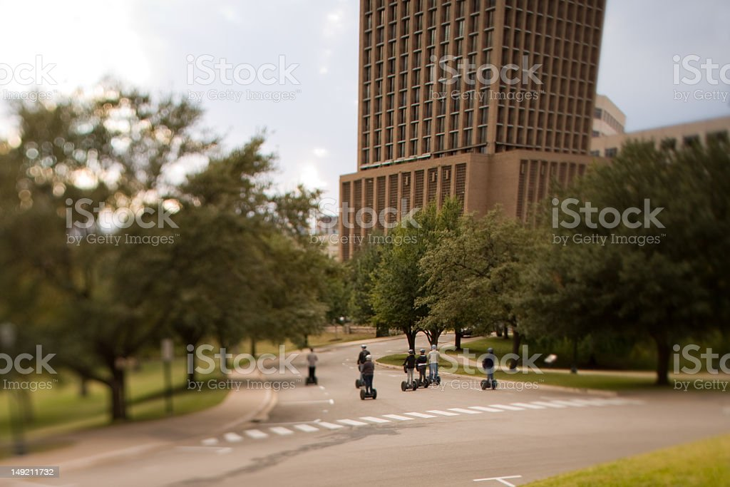 Sight Seeing on the Segway stock photo