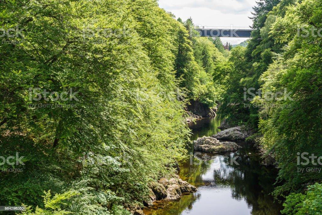 sights of Linn of Tummel royalty-free stock photo