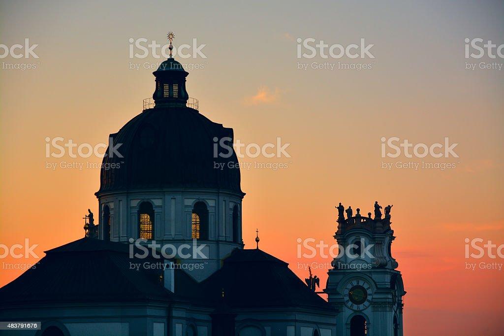 Sights of Salzburg: Kollegienkirche, Austria attractions stock photo