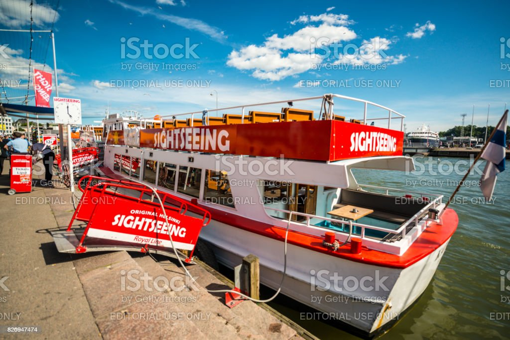 Sightseeing boat in Helsinki, Finland stock photo