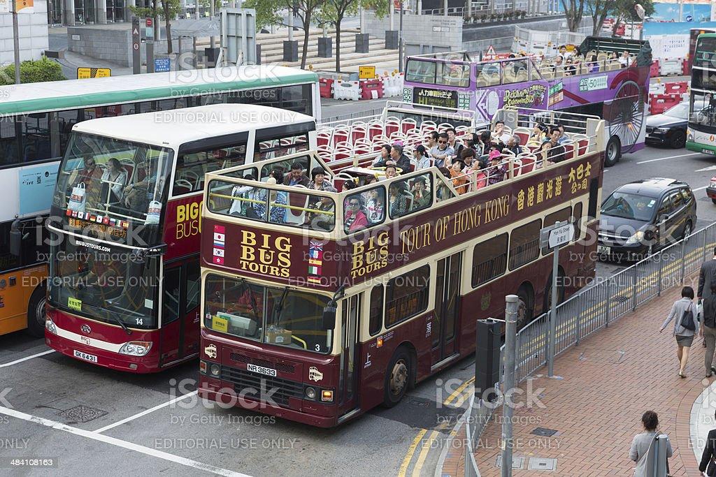 Sightseeing Bus in Hong Kong stock photo