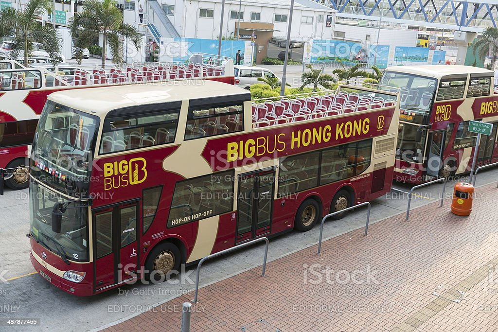 Sightseeing Bus in Hong Kong stock photo