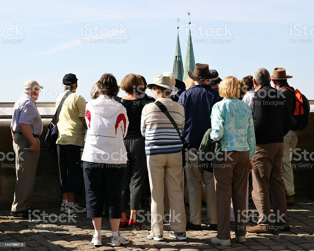 Sightseeing group stock photo