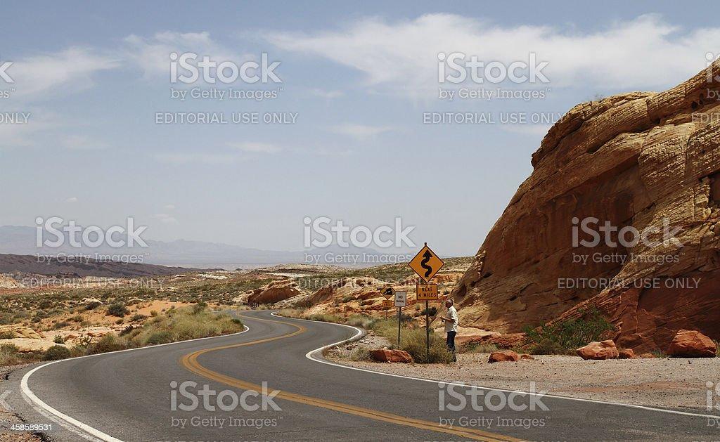 Sightseeing in Nevada desert royalty-free stock photo