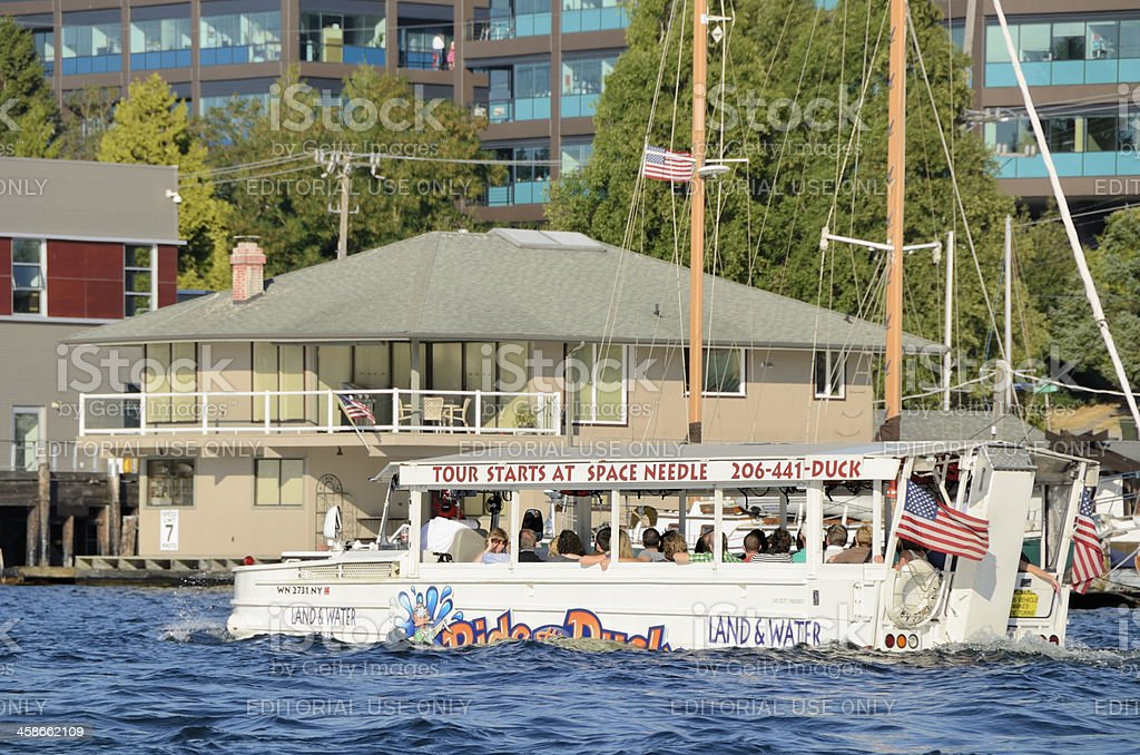 Sightseeing on Lake Union, Seattle royalty-free stock photo