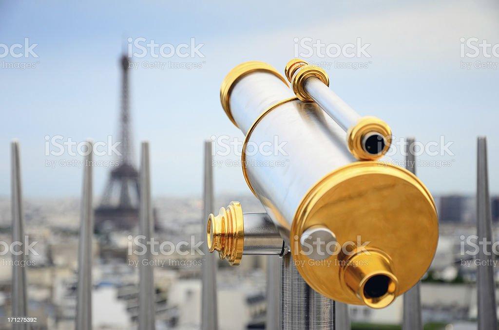 Sightseeing Telescope stock photo