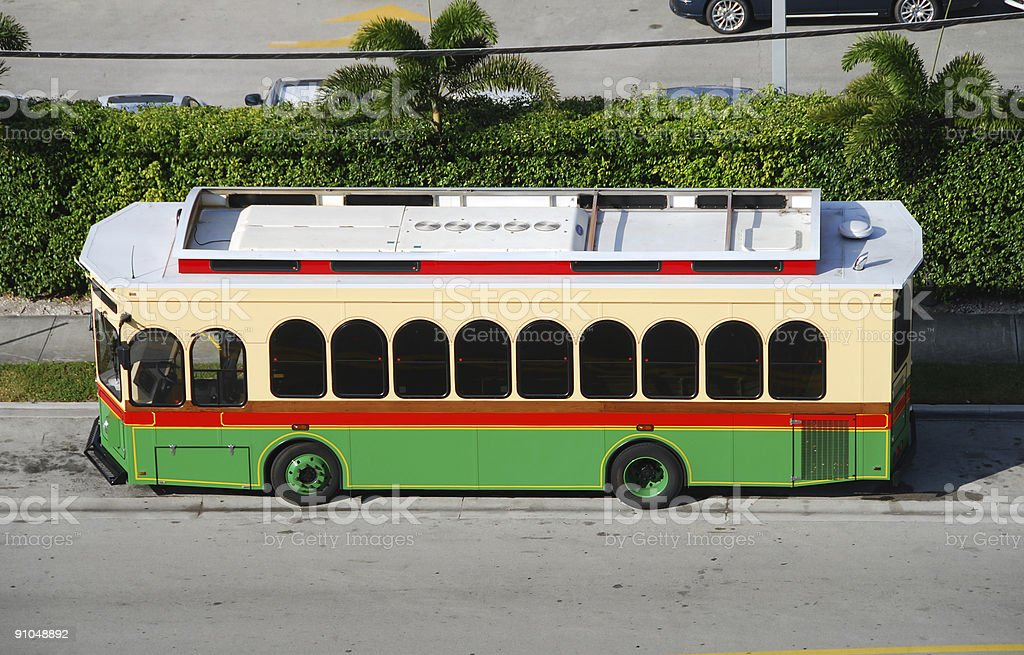 Sightseeing trolley powered by alternative fuel royalty-free stock photo