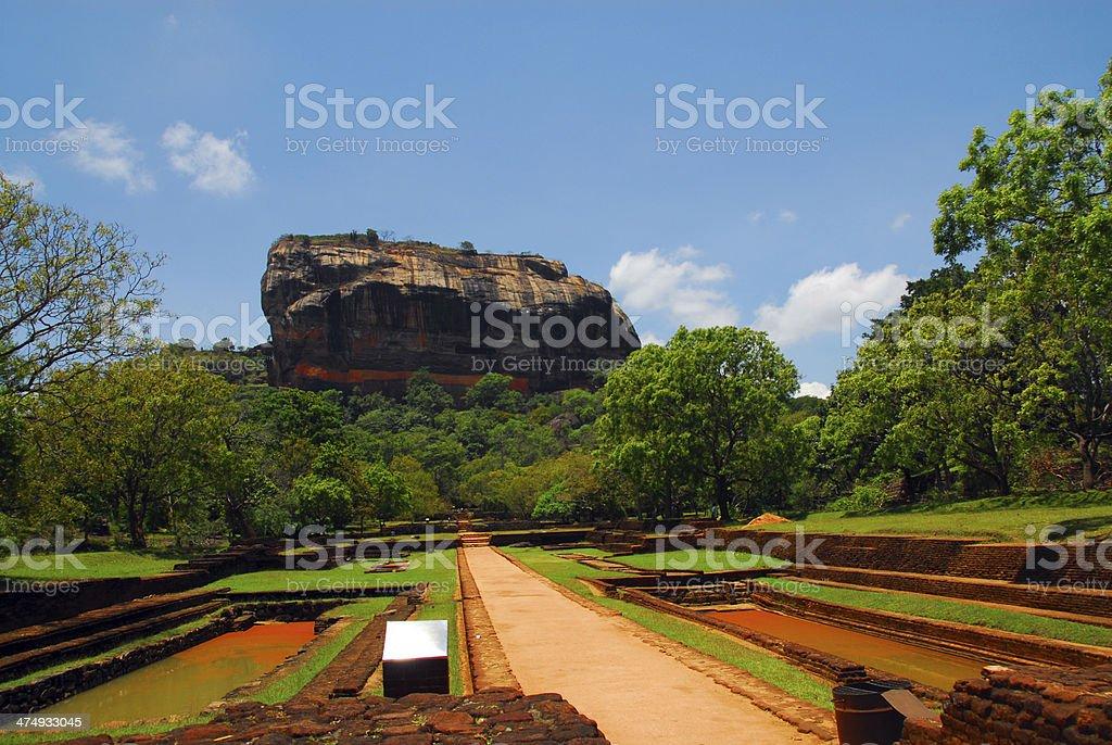 Sigiriya Lion Rock fortress in Sri Lanka royalty-free stock photo