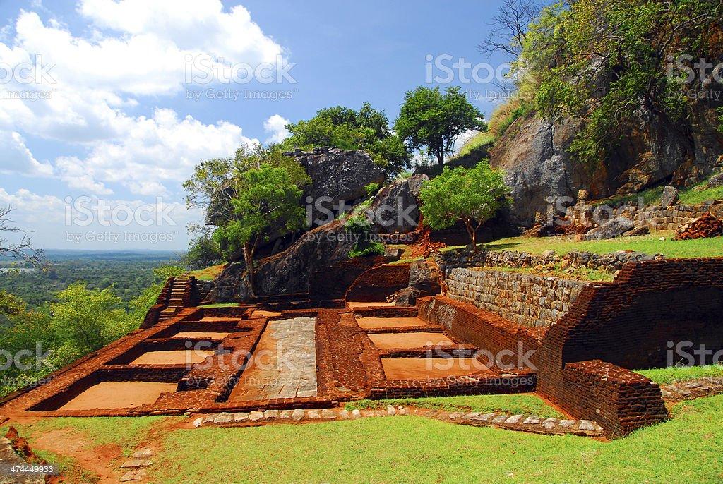 Sigiriya lion rock fortress,Sri Lanka royalty-free stock photo