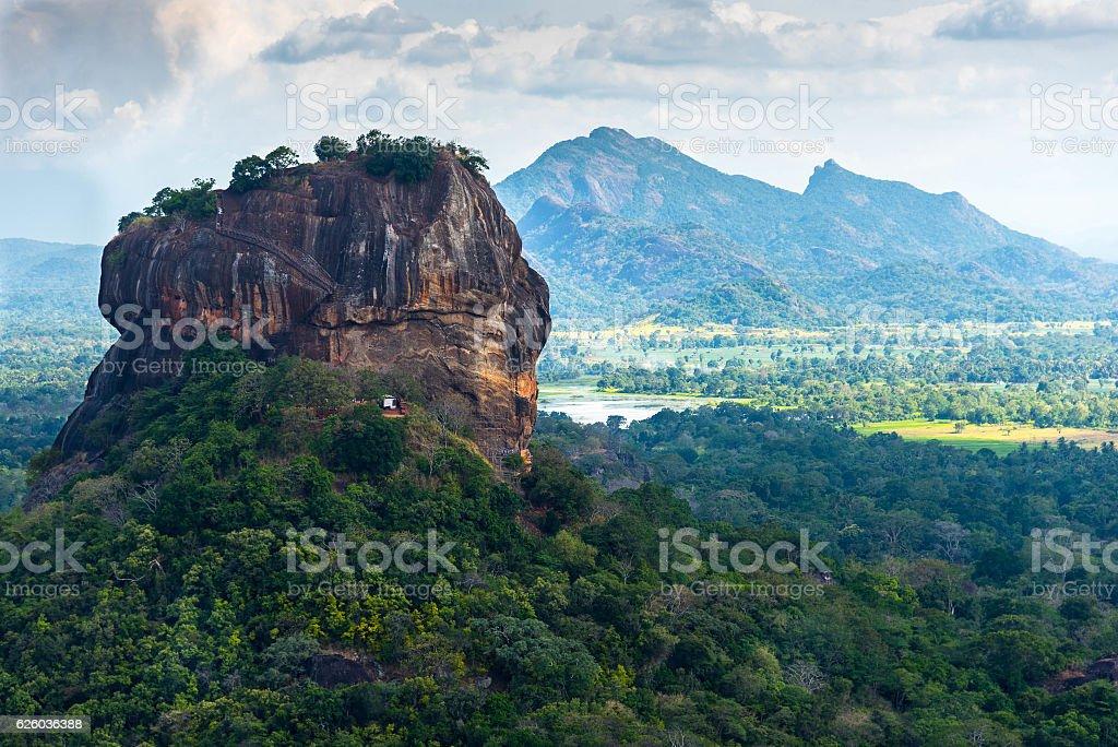 Sigiriya Lion Rock stock photo