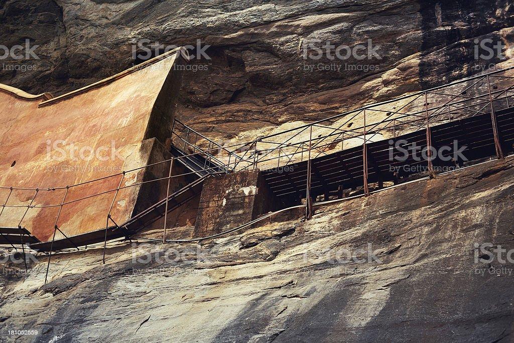 Sigiriya mirrored wall royalty-free stock photo