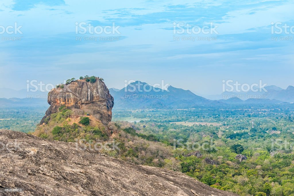 Sigiriya Rock Fortress View From Pidurangala Rock stock photo