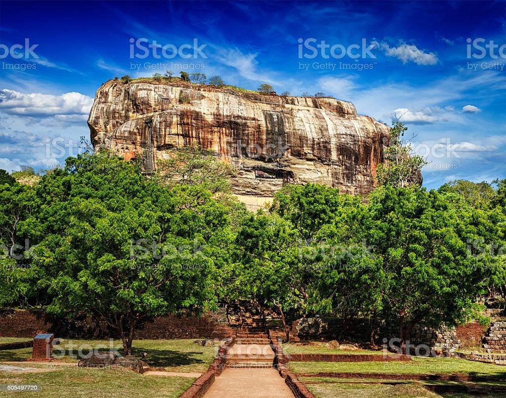Sigiriya rock, Sri Lanka royalty-free stock photo