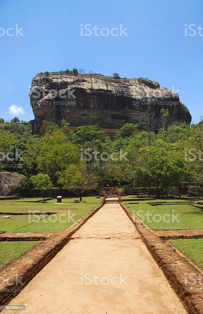 Sigiriya, Sri Lanka: palace of King Kasyapa, Lion Rock royalty-free stock photo