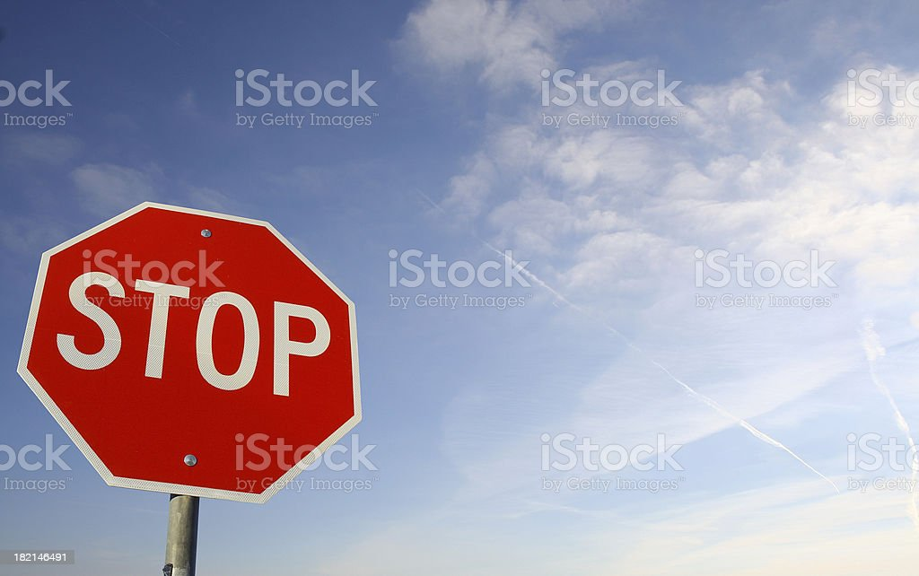 STOP -sign 2 stock photo
