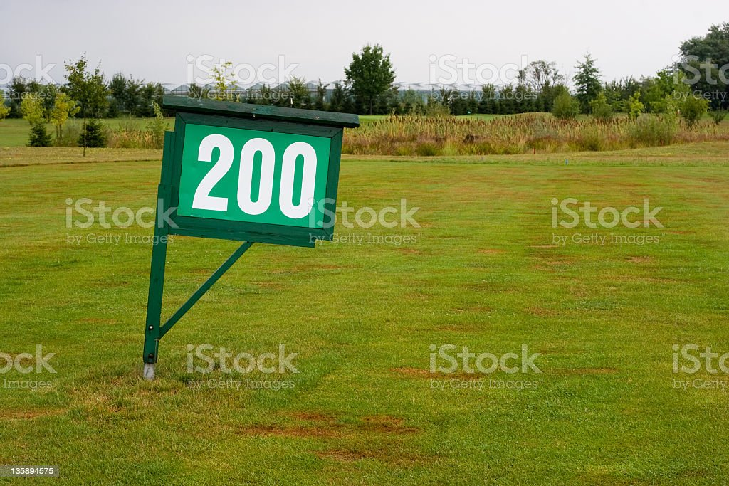 Sign - 200 meters/yards royalty-free stock photo