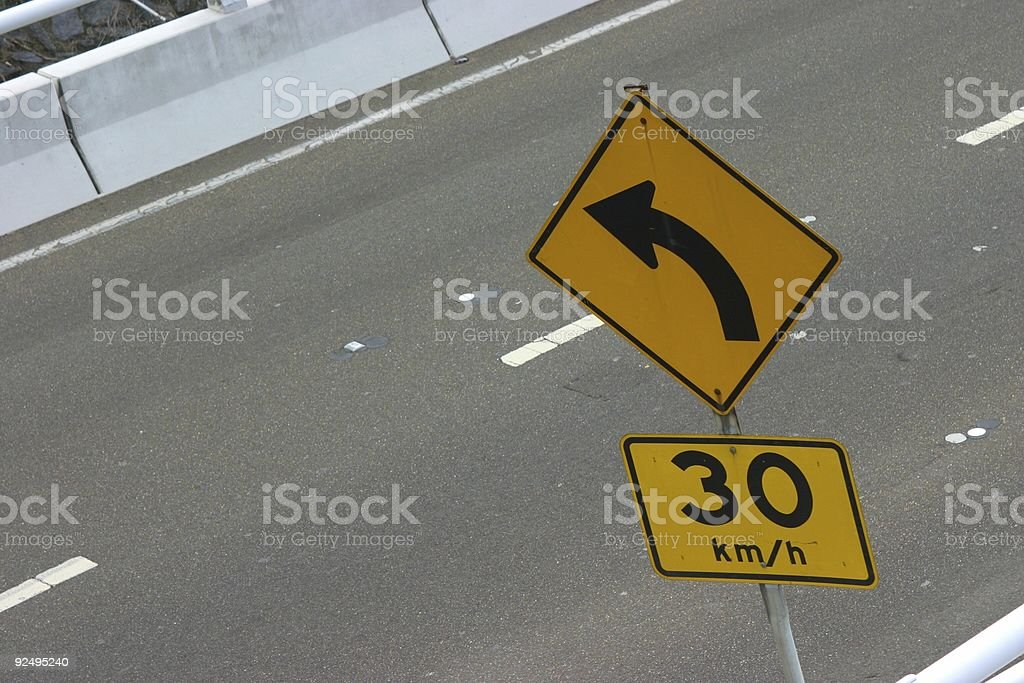 Sign - 30kmh royalty-free stock photo