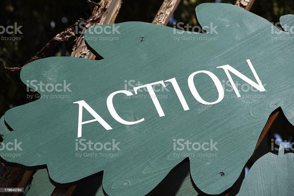 Sign 'Action' royalty-free stock photo