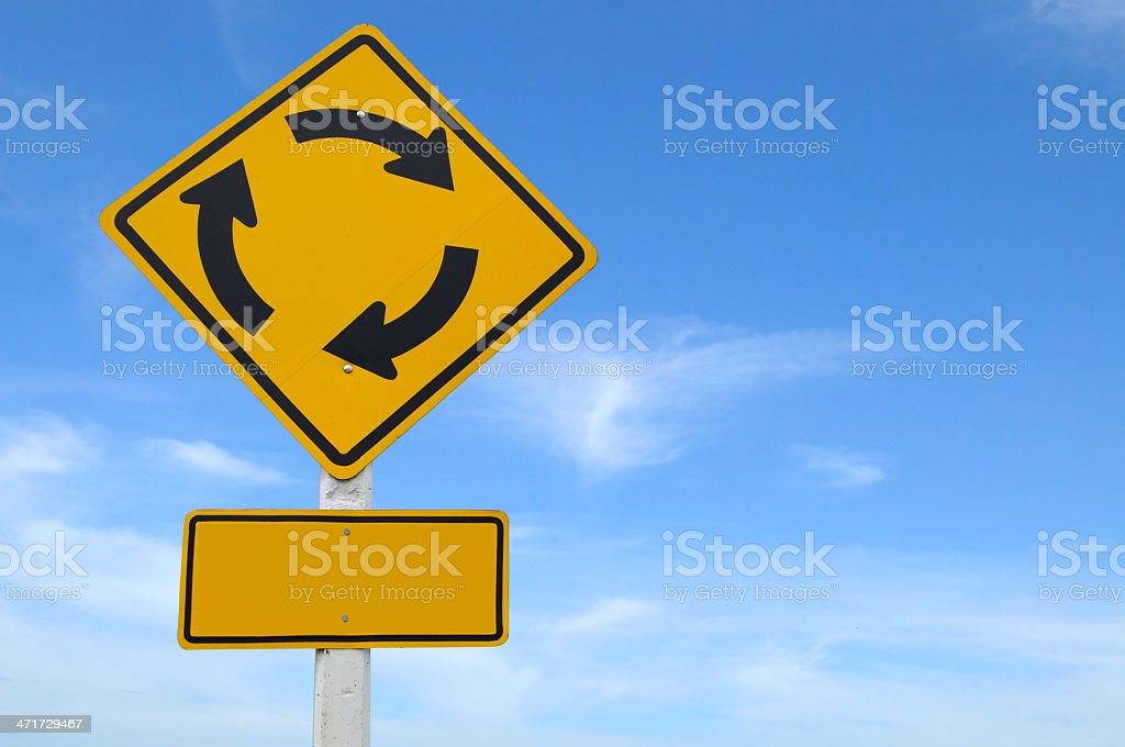 Sign And Blue Sky royalty-free stock photo