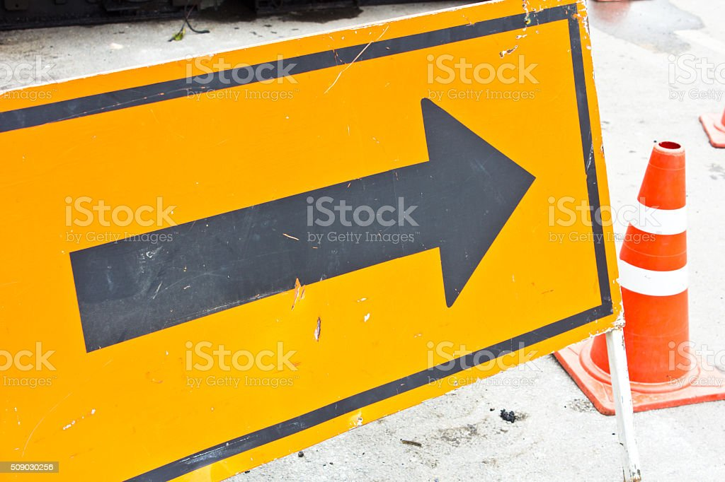 sign arrow stock photo