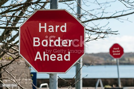 Sign at a stop junction in Ireland saying