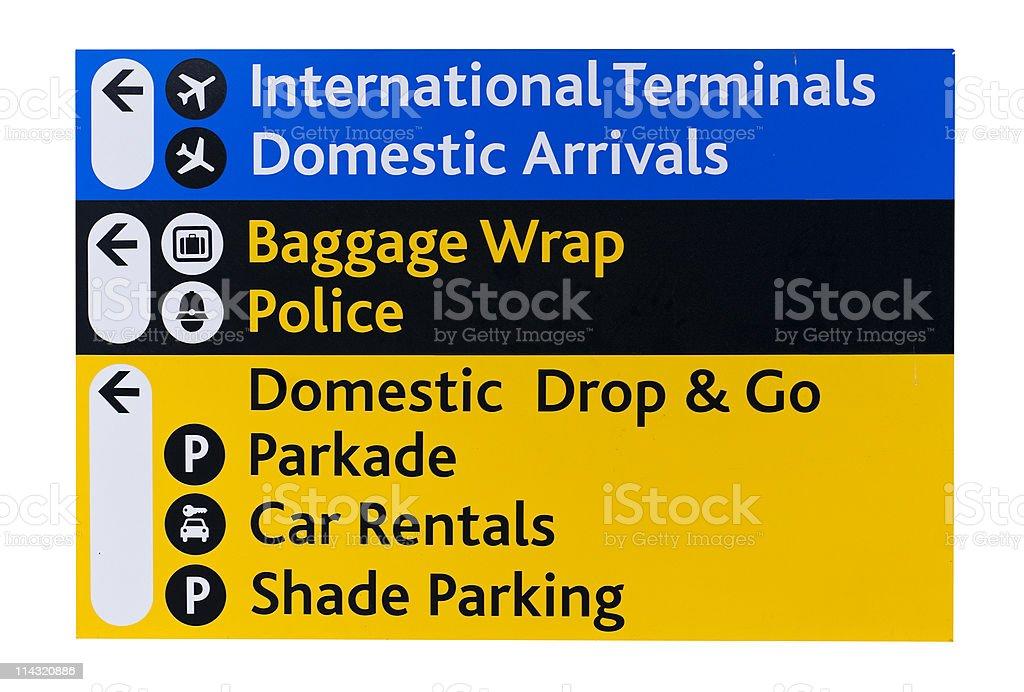 Sign at airport royalty-free stock photo