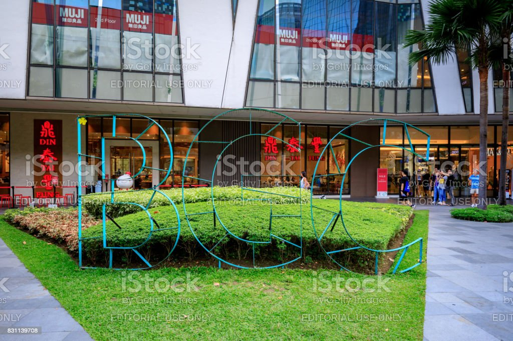 BGC sign at High street at Fort Bonifacio on Aug 6, 2017 in Metro Manila, Philippines stock photo