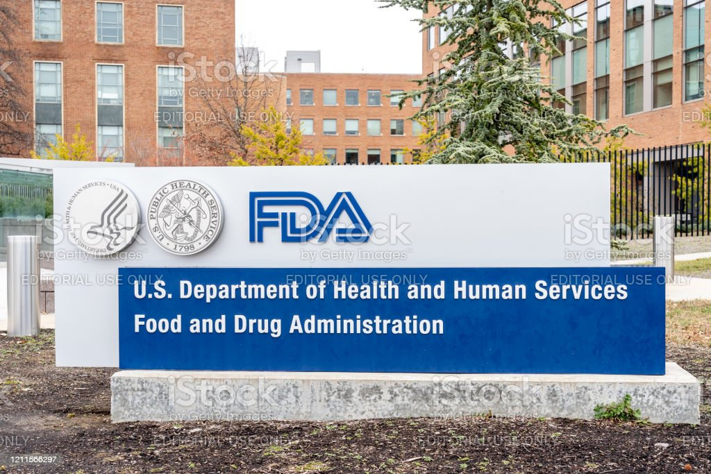 FDA Sign at its headquarters Washington, D.C., USA- January13, 2020: FDA Sign at its headquarters in Washington. The Food and Drug Administration (FDA or USFDA) is a federal agency of the USA. Editorial Stock Photo