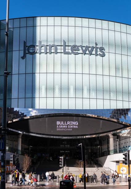 sign at the front of john lewis department store on station street - john lewis стоковые фото и изображения