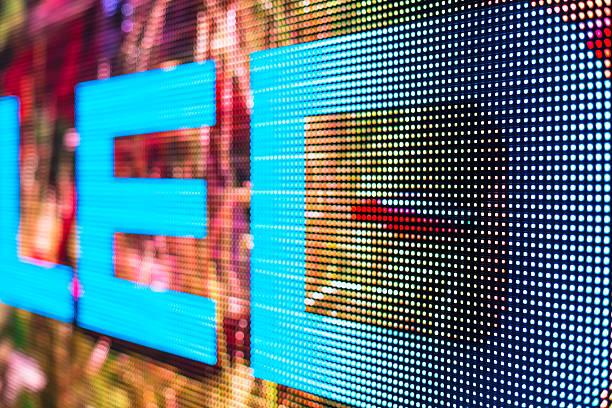 LED-Schild am smd-LED-Fernseher – Foto