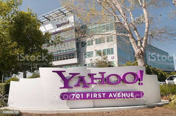 Sign At Yahoo Headquarters Stock Photo - Download Image Now