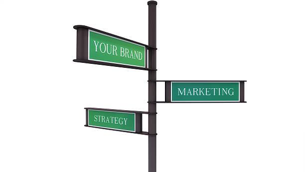 Sign Brand, Marketing, Strategy stock photo