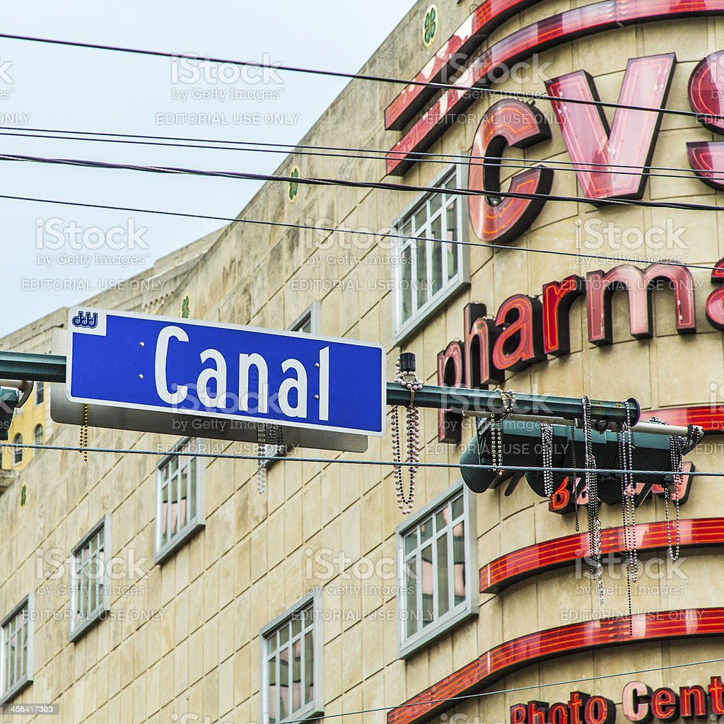 sign Canal street   in New Orleans royalty-free stock photo