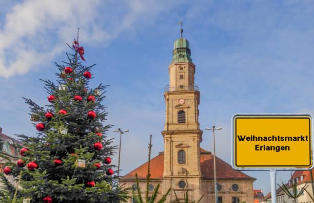 Sign Christmas Market Erlangen german