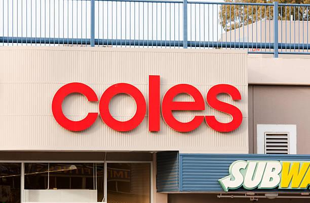 firmare-coles supermercato australia - subway foto e immagini stock