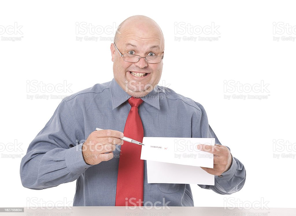 Sign Contract royalty-free stock photo
