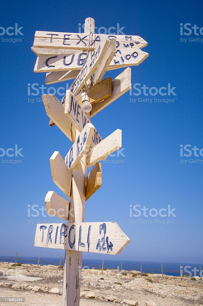 sign direction royalty-free stock photo