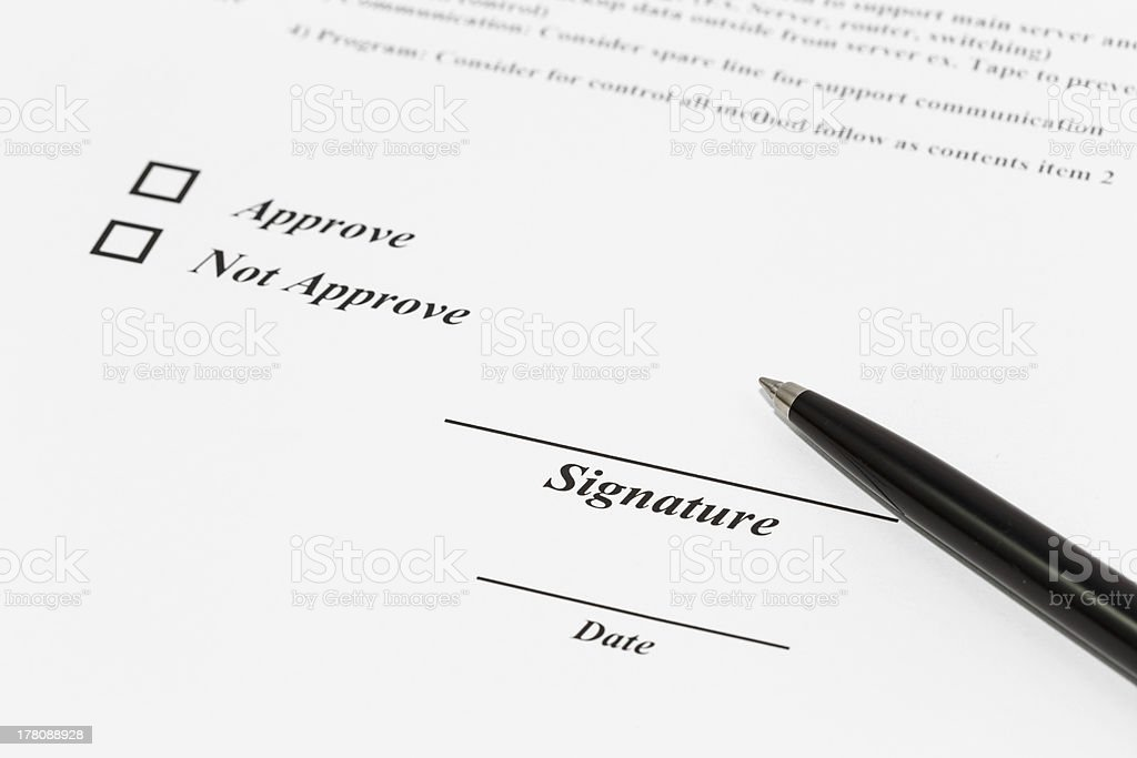 sign document royalty-free stock photo