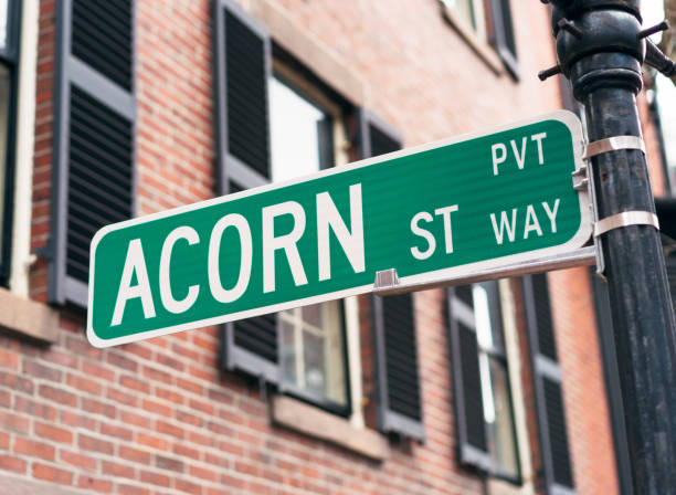 Sign for Acorn Street in Boston – Foto