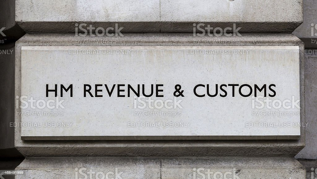 Sign for HM Revenue and Customs stock photo