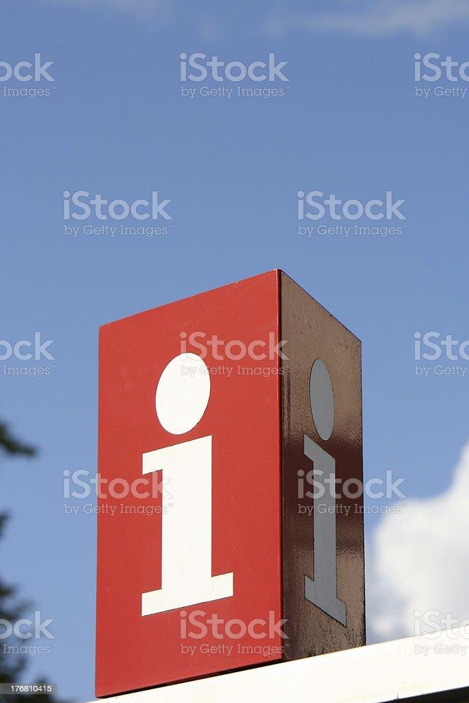 Sign for infornation stock photo