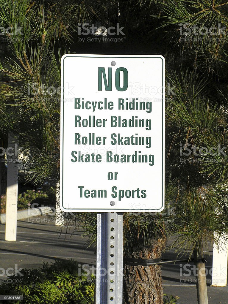 sign for no fun royalty-free stock photo