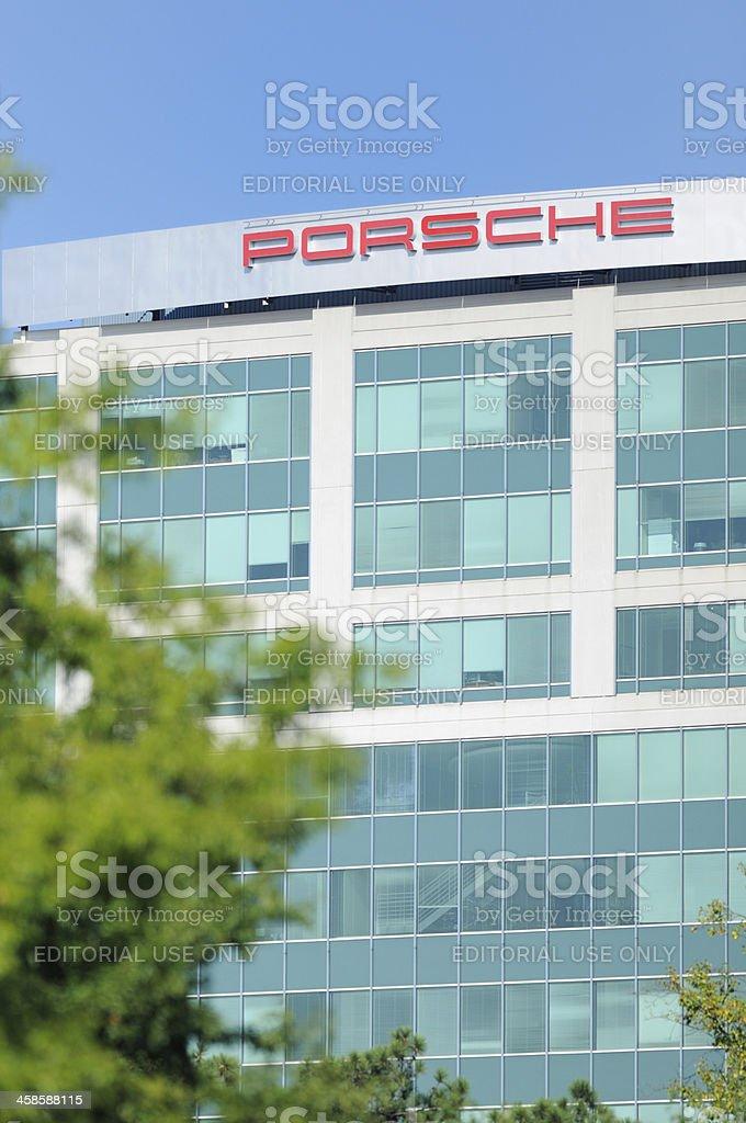 Sign for Porsche of North America stock photo